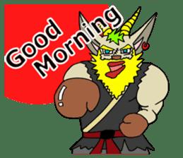 legendary karate fighter, Goat hermit2 sticker #5924442