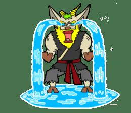 legendary karate fighter, Goat hermit2 sticker #5924447