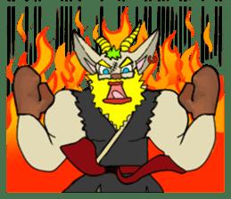 legendary karate fighter, Goat hermit2 sticker #5924451