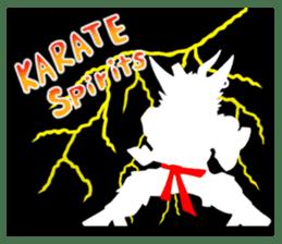 legendary karate fighter, Goat hermit2 sticker #5924461