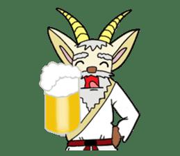 legendary karate fighter, Goat hermit2 sticker #5924466