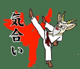 legendary karate fighter, Goat hermit2 sticker #5924474