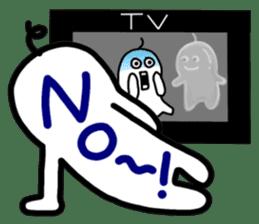 I like watching television. sticker #5925630