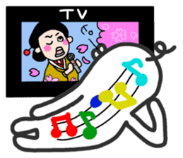 I like watching television. sticker #5925635