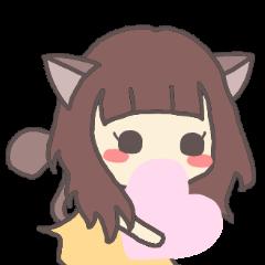 catgirl with kanji