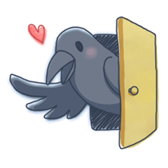 Karasu's Crow Sticker No.1