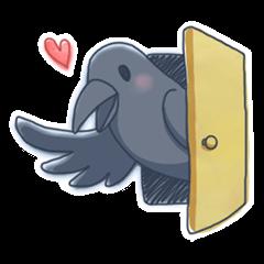Karasu's Crow Sticker No.1