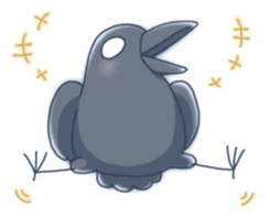 Karasu's Crow Sticker No.1 sticker #5927161
