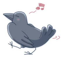 Karasu's Crow Sticker No.1 sticker #5927162