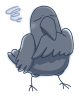 Karasu's Crow Sticker No.1 sticker #5927163
