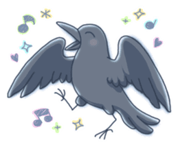 Karasu's Crow Sticker No.1 sticker #5927165