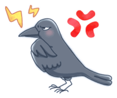 Karasu's Crow Sticker No.1 sticker #5927169