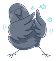 Karasu's Crow Sticker No.1 sticker #5927172
