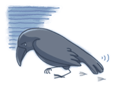 Karasu's Crow Sticker No.1 sticker #5927173
