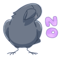 Karasu's Crow Sticker No.1 sticker #5927181