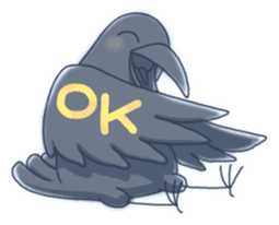 Karasu's Crow Sticker No.1 sticker #5927184