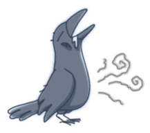 Karasu's Crow Sticker No.1 sticker #5927185