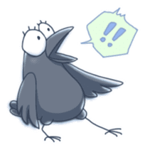 Karasu's Crow Sticker No.1 sticker #5927192