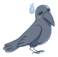 Karasu's Crow Sticker No.1 sticker #5927193