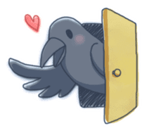Karasu's Crow Sticker No.1 sticker #5927195