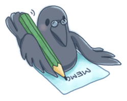 Karasu's Crow Sticker No.1 sticker #5927196