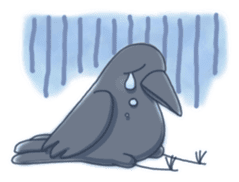 Karasu's Crow Sticker No.1 sticker #5927197