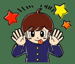 Junior high school boys sticker #5951846