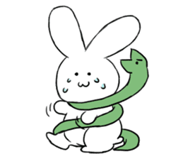 The rabbit which involves a snake sticker #5956448