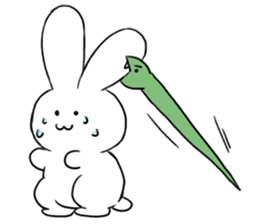The rabbit which involves a snake sticker #5956449