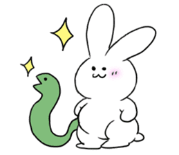 The rabbit which involves a snake sticker #5956465