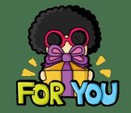 80's Afro Girl sticker #5957968