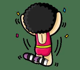 80's Afro Girl sticker #5957971