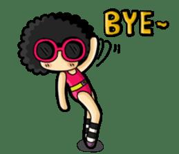 80's Afro Girl sticker #5957999