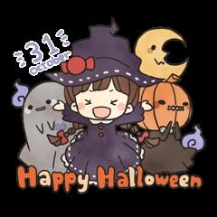Three of the Halloween mood