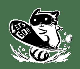 SNOWBOARDING Raccoon sticker #5984040