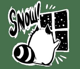 SNOWBOARDING Raccoon sticker #5984041