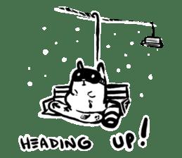 SNOWBOARDING Raccoon sticker #5984048