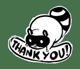 SNOWBOARDING Raccoon sticker #5984052