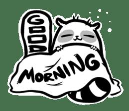 SNOWBOARDING Raccoon sticker #5984067