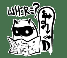 SNOWBOARDING Raccoon sticker #5984072