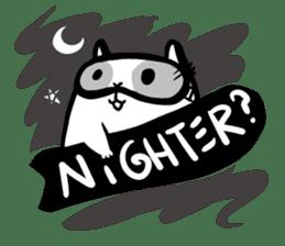SNOWBOARDING Raccoon sticker #5984075