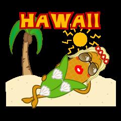 hawaiian corn girl and spam musubi boy