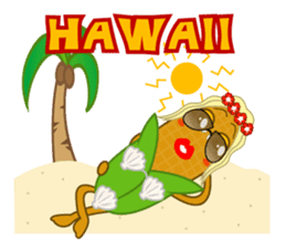 hawaiian corn girl and spam musubi boy sticker #5985011