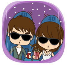 Anna in couple version sticker #5998793