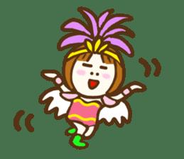 Jocular girl sticker #6005664