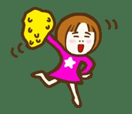 Jocular girl sticker #6005665
