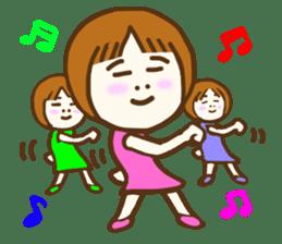 Jocular girl sticker #6005666