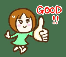 Jocular girl sticker #6005670