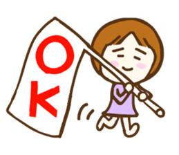Jocular girl sticker #6005671