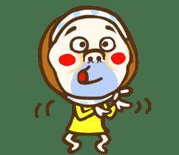 Jocular girl sticker #6005673